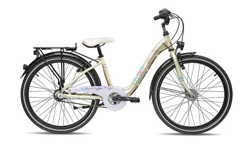 """s'cool chiX comp 24-3 Rower dziecięcy  24"""" beżowy"""